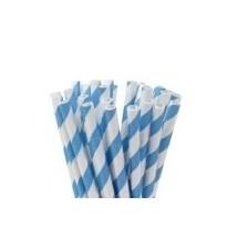 Pajitas cake pops rayas azul cielo
