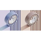 Washi Tape Líneas azules y marrones