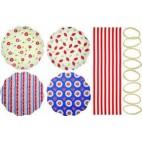 Home Made Set de 8 tapas para tarros, variados
