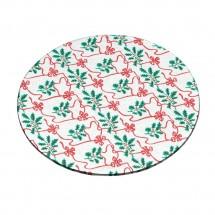 Base para tartas con decoración navideña plata 20cm