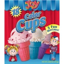 Barquillo cups de colores