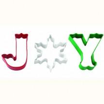 Set de 3 Cortadores Galletas Joy. Wilton