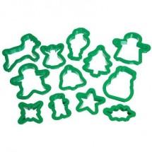 Set 12 cortadores navideños