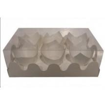 Caja 6 cupcakes con tapa transparente