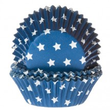 Cápsulas para cupcakes azul estrella