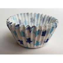 Cápsulas cupcakes estrellas azules