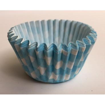 Cápsulas mini cupcakes vichy azul