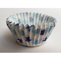 Cápsulas mini cupcakes estrellas azules