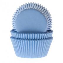 60 Cápsulas mini cupcakes azul bebe HoM