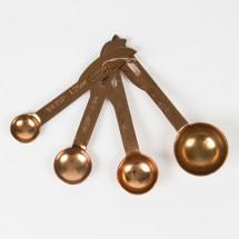 Set de 4 cucharas medidoras cobre