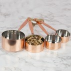 Set de 4 tazas medidoras cobre