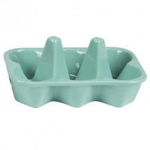 Huevera cerámica azul