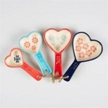 Set de 4 cucharas medidoras corazón