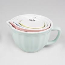 Set de 4 tazas medidoras Pastel