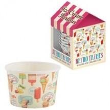 Set 6 tarrinas helado Retro Treats