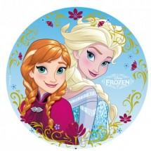 Oblea Frozen Elsa y Ana 20cm