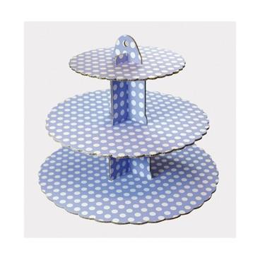 Culpitt 3 Tier Blue Cupcake Stand