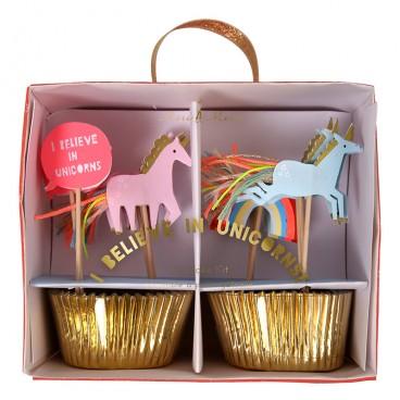 Set para cupcakes Unicornios