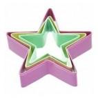 SDI Set de 3 cortadores Estrellas