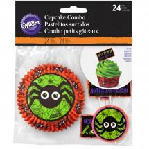 Set de cupcakes Halloween Araña