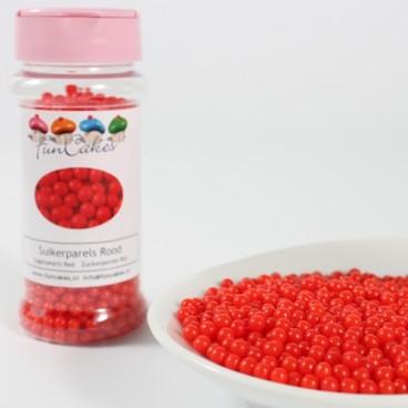 FunCakes Sugarpearls Shiny Red