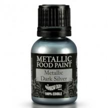 RD pintura metálica comestible Dark Silver