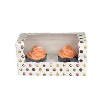 caja 2 cupcakes