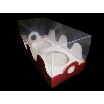 Caja blanca 2 cupcakes con tapa transparente