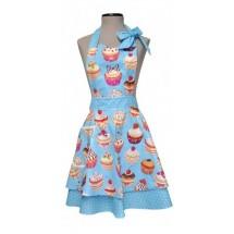 Delantal Wendy Cupcakes azul