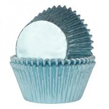 Cápsulas azul bebé metalizado
