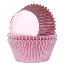 Cápsulas rosa bebé metalizado