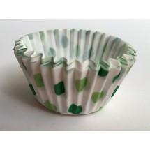 Cápsulas cupcakes lunares verdes