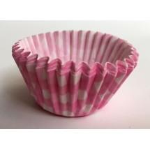 Cápsulas mini cupcakes vichy rosa