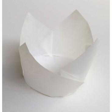 Cápsulas muffins medianas blancas