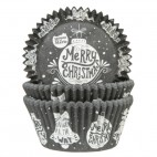 Cápsulas cupcakes adornos navideños