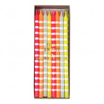 Velas Pastel stripes
