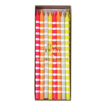Velas Pastel stripes