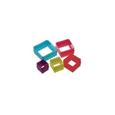 Colourworks Set de 5 cortadores cuadrado
