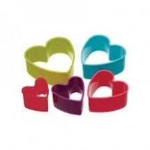 colourworks set de 5 cortadores corazon