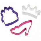 Set 3 cortadores Princesa