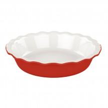 Molde cerámico rojo para tarta de 26,5cm
