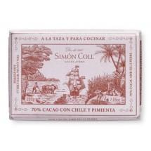 Cocolate a la taza chile y pimienta