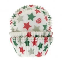 Cápsulas para cupcakes estrellas Navidad. HoM
