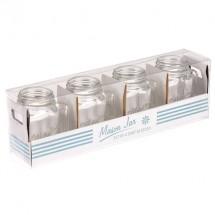 Set de 4 jarras Mason Jar de chupito