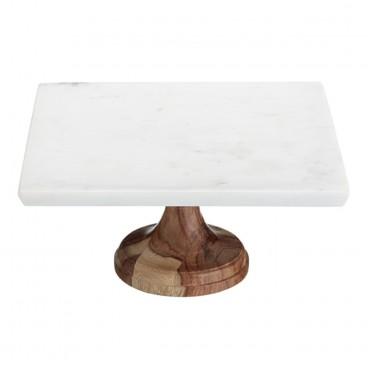 Stand de mármol y madera