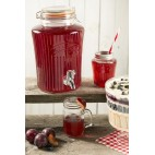 Set dispensador y jarras Kilner