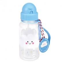 Botella de agua nube