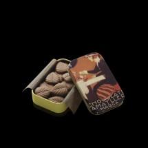 Hojas de chocolate con leche