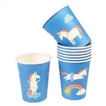Vasos de papel unicornio