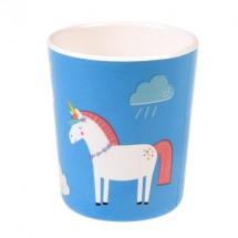 Vaso de melamina unicornio
